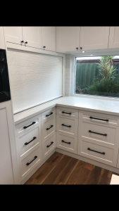 Corner drawers shut | Master Class Cabinets